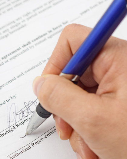 Signing a (NDA) Non Disclosure Agreement