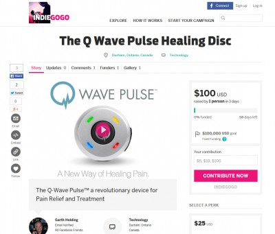 Q-Wave Pulse on Indiegogo