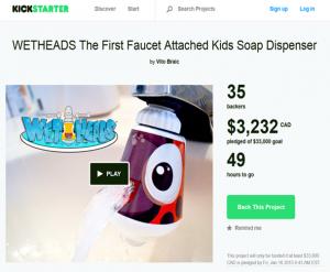Wet Heads on Kickstarters