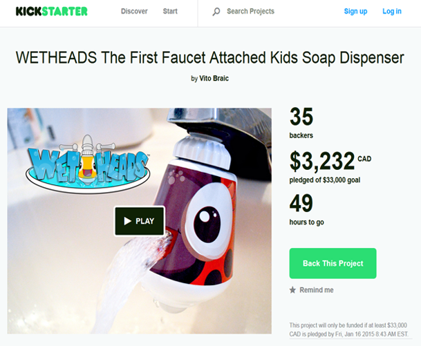 Wet Heads on Kickstarters