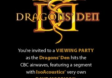 Iso Acoustics on the Dragons Den