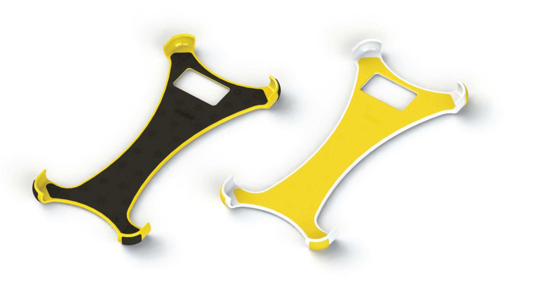 Yellow polka dot bikini case