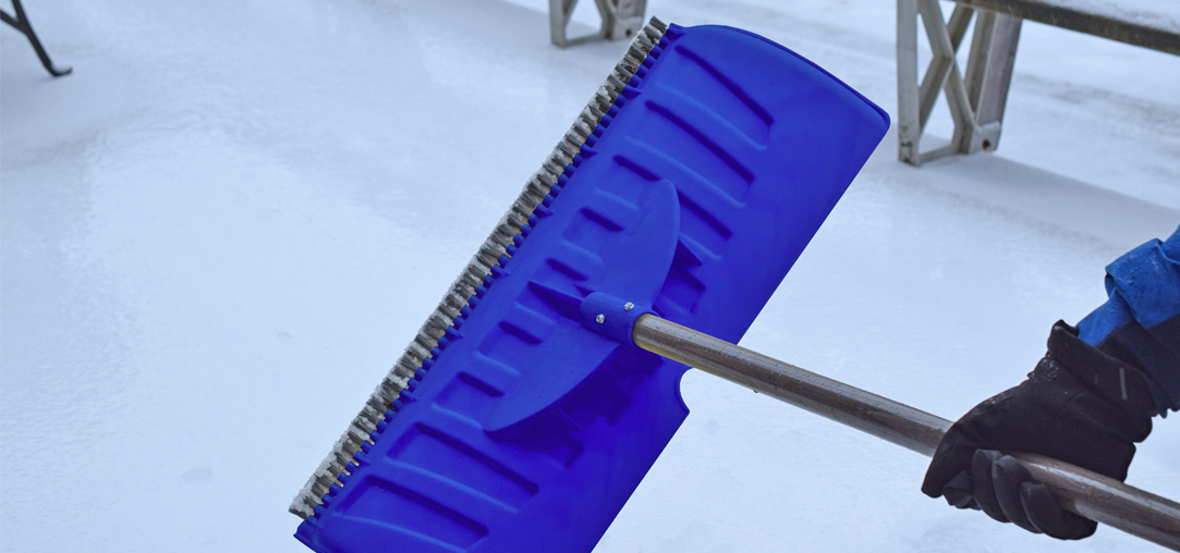 New Snow Shovel with Bristles