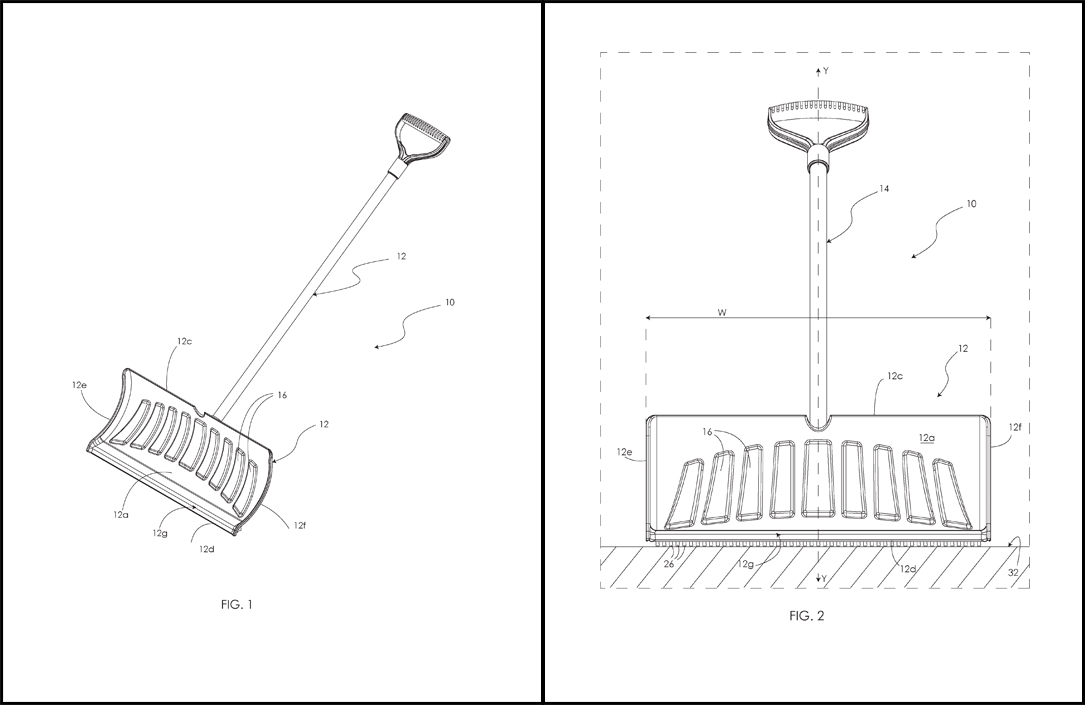 Snow Shovel Patent Drawings