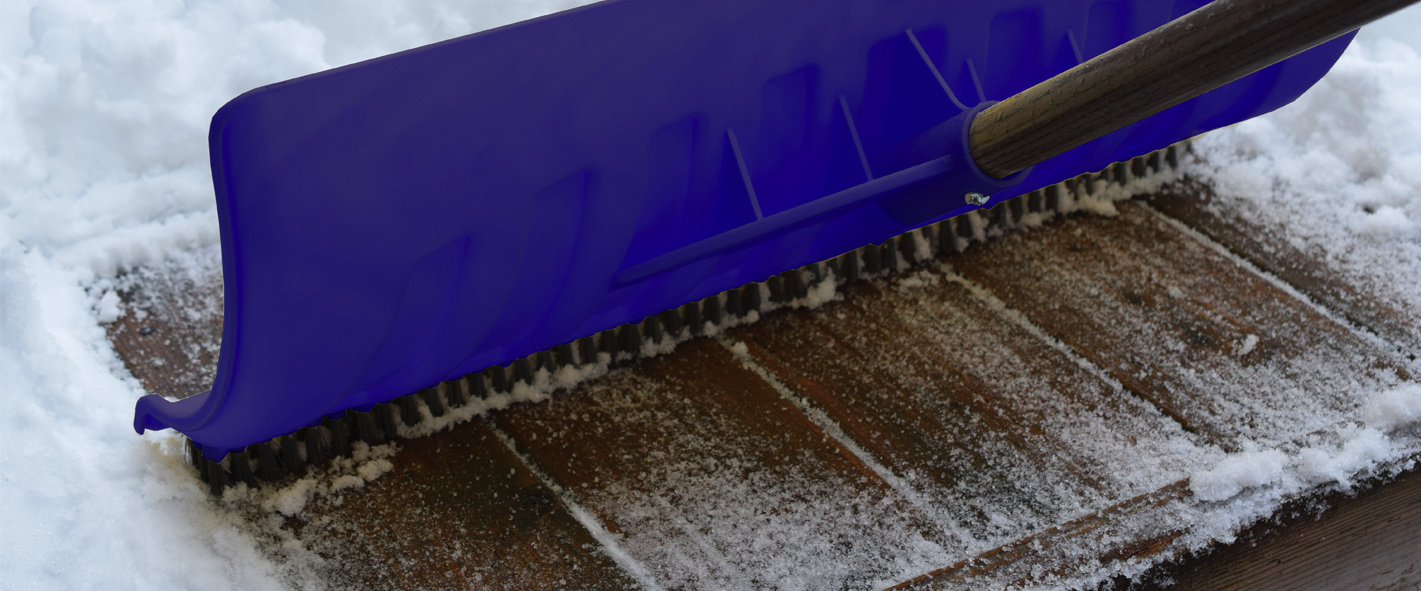 Unique Snow shovel with a brush for confidence and speed!