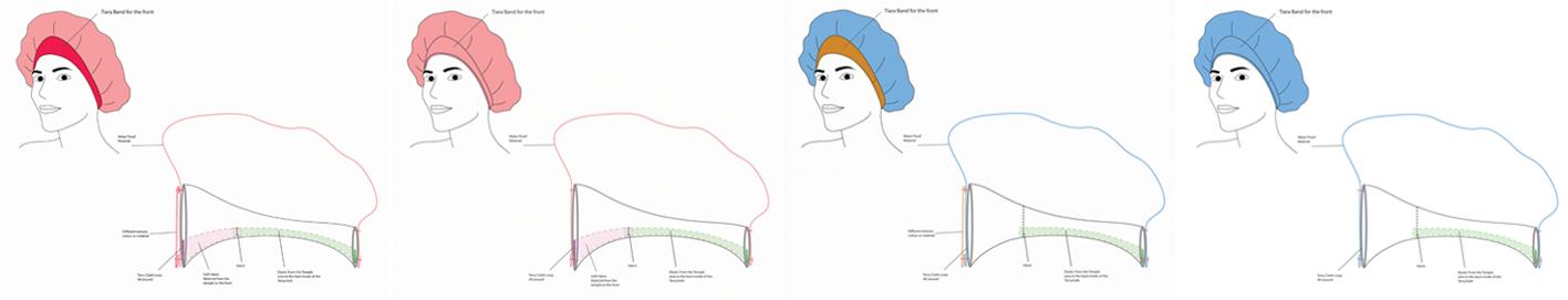 Tiara Shower Cap Concepts