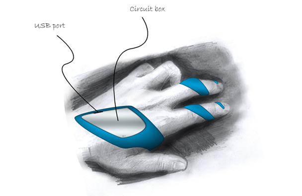 Airmouse Wearable technology design Sketches