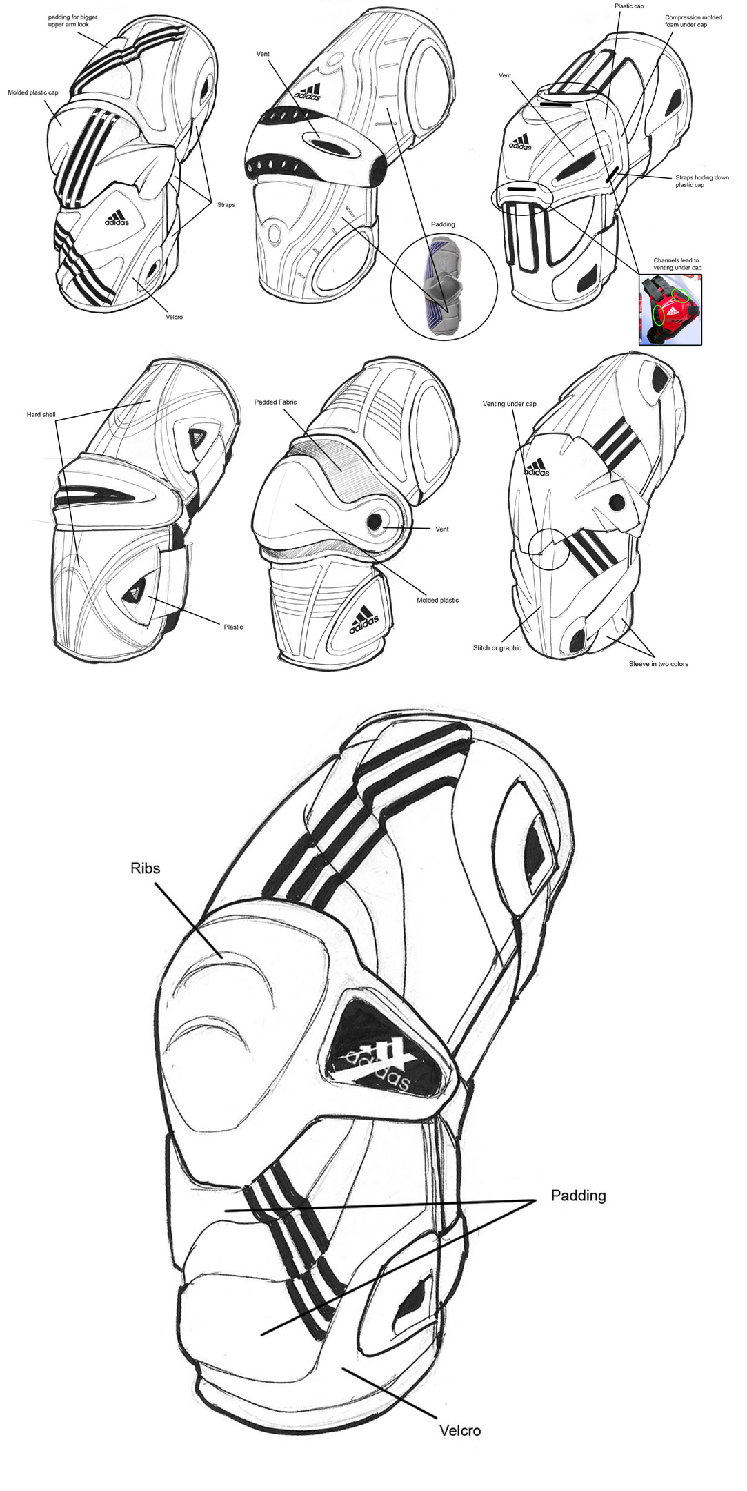 Adidas Elbow Guard Industrial Design Concepts