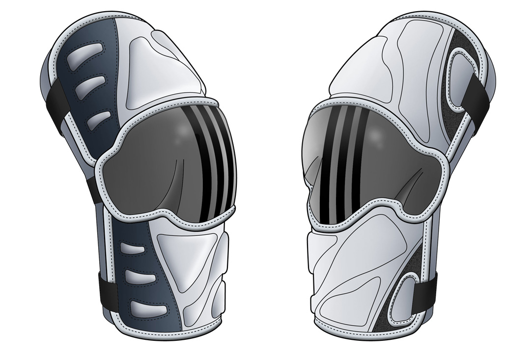 Adidas Elbow Guard Industrial Design Rendering