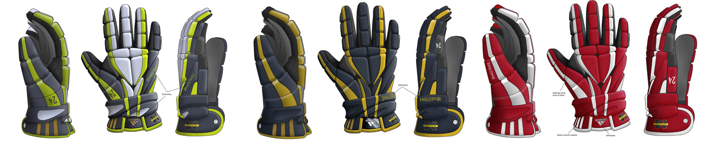 Lacrosse Glove design concepts