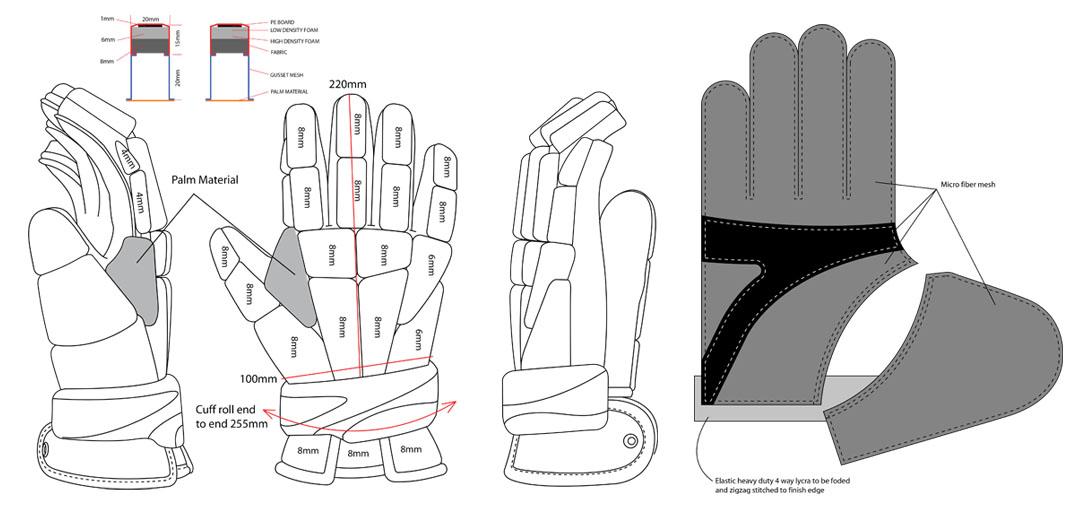 Adidas 411 Glove pattern