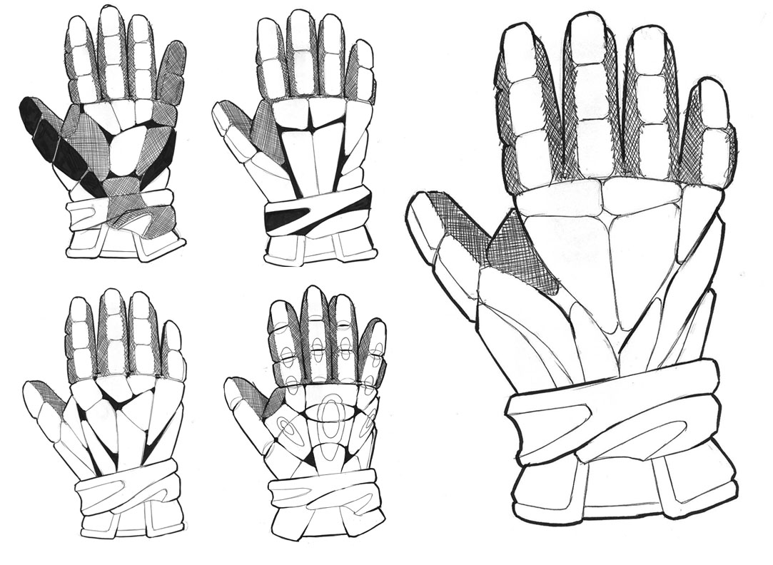 Adidas Lacrosse Gloves sketches