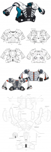Adidas, Shoulder pads, concept, product design, product development