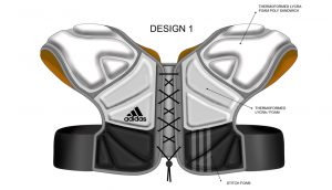 Adidas, Lacross, Shoulder Pads, sports protection