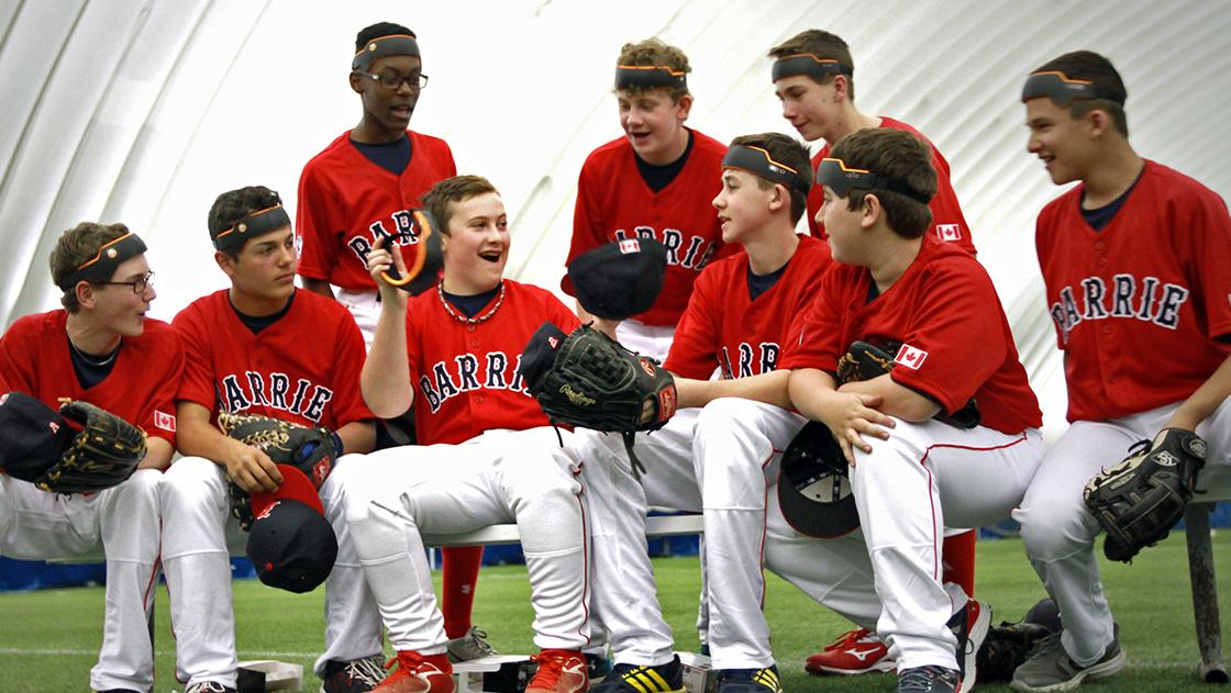 Baseball Group using the Ball Cap Liner