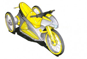 Tricycle, Bike, industrial design, concepts, renderings, sketches