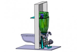 Water Jet, Macerator, disposable system, human waste, hospitals