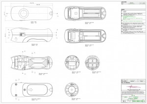 technical drawings, mechanical engineering, electric whistle, fox 40, proposal