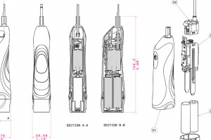 """CAD Drawings"" Mechanical""""Engineering""""Toothbrush Design"""