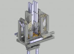 Pneumatic, Assembly, fixture, wall housing