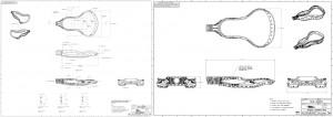 Lacrosse head design, 2d models, product design and development
