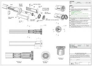 Technical drawings, view, Lacrosse, End Cap, mechanical drawings