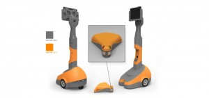 Robot, Virtual presence robot, color studio, renderings, drawings, sketches, product design, ideas