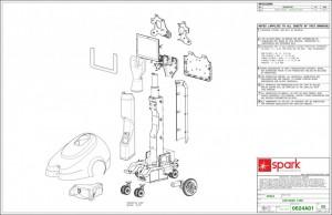Robot, Virtual presence robot, Mechanical drawings, technical drawings, product design