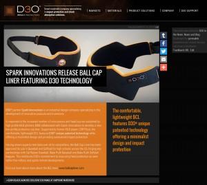 BCL, Ball Cap Liner, D3O, technology, absortion, sports