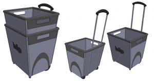 Indigo, Shopping cart, product design, rendering, concept