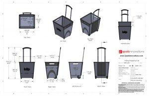 Indigo, Shopping cart, product design, CAD, drawings