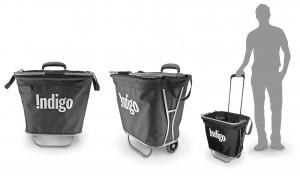 Indigo, shopping Cart, Design, product development, industrial design, proportion