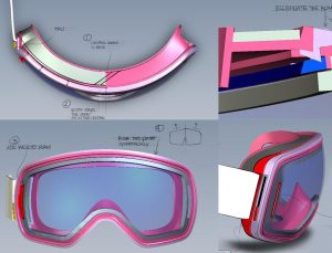 scott-lcg-goggles, designed, Spark Innovations, product development, sports products, industrial design