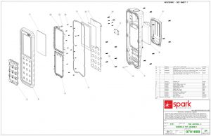 Mechanical Drawings for Industrial Hand Held Fuel Delivery System