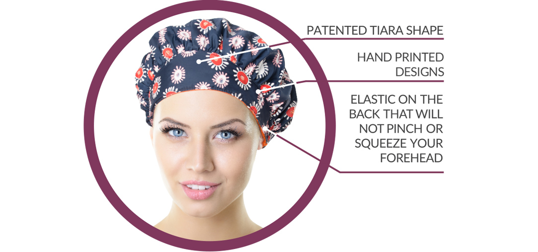 TIARA Shower Cap features