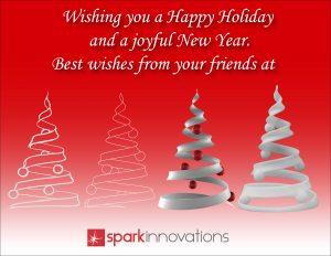 Happy Holidays, Christmas card, spark Innovations, 2016
