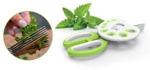 herb scissors, Herb Art, Patented, Raised Edges, herb stripper