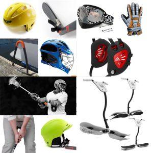 Sports Product Design, helmet design, gloves, lacrosse, snowboard, golf