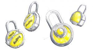 Dudley, Locks, concept, design, sketches, industrial design, product development