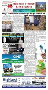 the weekly Sentinel, spark innovations, article