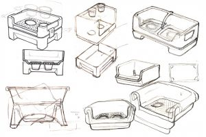 design a product, sketches, step by step, with images, New ideas, industrial design, product development