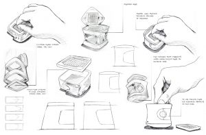 hand drawings, design a product, step by step, with images, New ideas, industrial design, product development