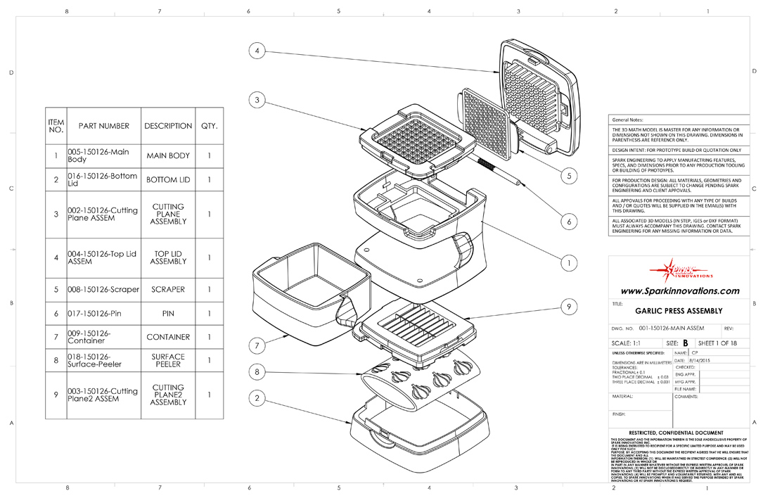 Product Design Mechanical Drawings
