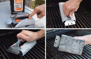 Q-Swiper, action shots, BBQ, Grill Cleaner, industrial design