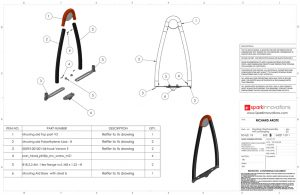 Mooring Aid, Cleat system, Solid works, CAD, technical drawings