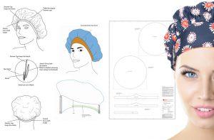 Product Design, shower cap, tiara shower cap