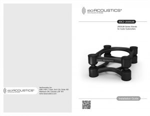 IsoAcoustics, Installation Guide, design, Graphic design, Spark Innovations