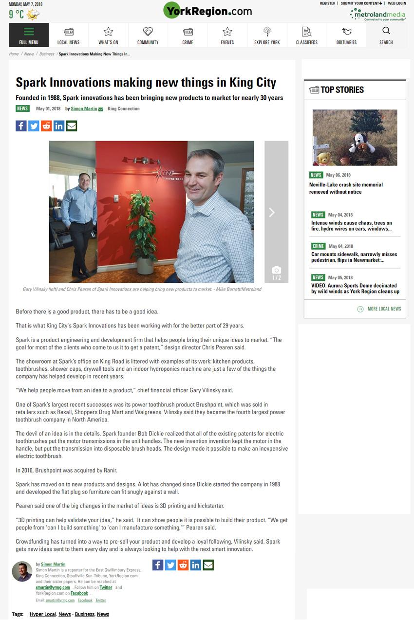 York Region.com | Spark Innovations