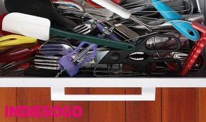 indiegogo, no more messy kitchen, kitchen solutions, kitchen organizer, adjustable, customizable, drawer organizer