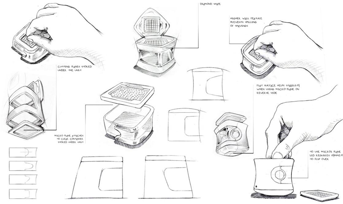 Industrial Designer's Initial Sketches